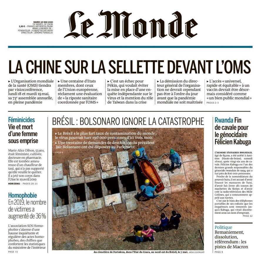 Capa Le Monde 19.05