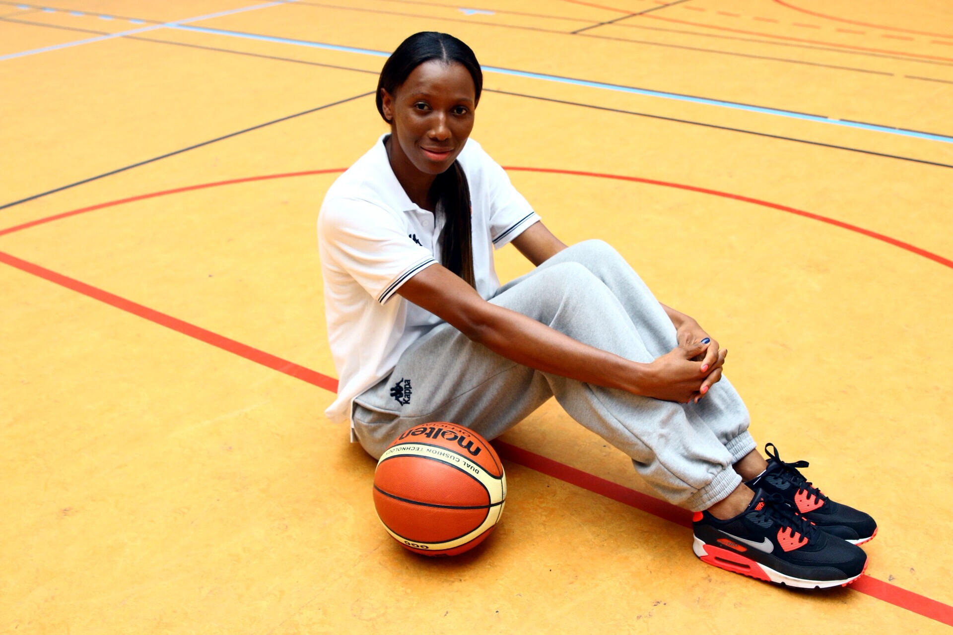 La basketteuse franco-gabonaise Géraldine Robert.
