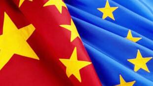 圖為中國與歐盟關係報道配圖