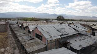 Vista general de la cárcel de Comayagua, tras el incendio de febrero de 2012.