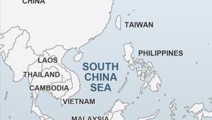 圖為南海地圖