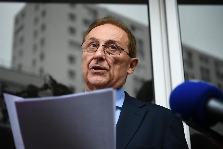 Le patron du patinage français, Didier Gailhaguet, annonçant sa démission le 8 février 2020.