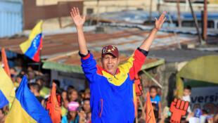 Henri Falcon, candidado nas eleições presidenciais venezuelanas de 2018, em 17 de maio.