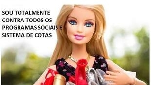 """Reprodução da matéria publicada no jornal Le Monde nesta quarta-feira sobre o fenômeno da """"Barbie Fascionista"""" nas redes sociais."""