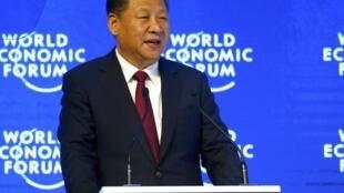 Xi Jinping, président chinois au Forum de Davos.