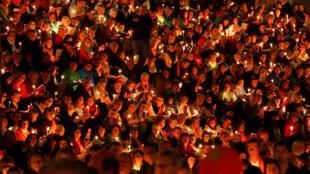 Des Berlinois protestants rassemblés à l'occasion du «Kirchentag».