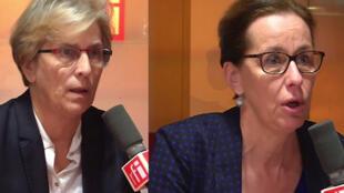 Marie-Noëlle Lienemann et Fabienne Keller à RFI.