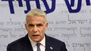 El centrista Yair Lapid, el 31 de mayo de 2021 en el parlamento israelí en Jerusalén