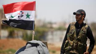 Государственный флан Сирии поднят в провинции Дераа