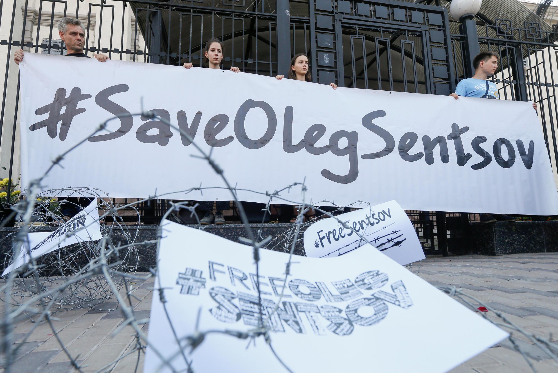 Акция в поддержку Сенцова в Киеве 21 августа 2018 г.