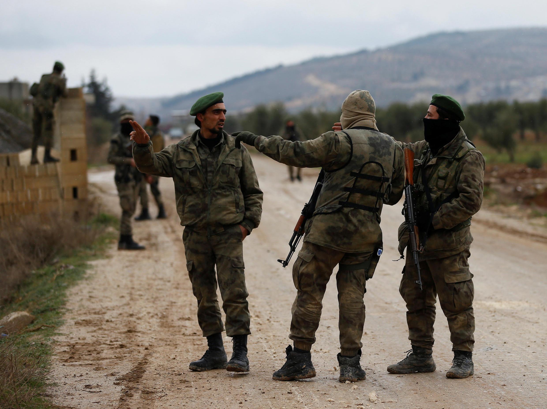 Check-point à Azaz, en Syrie, le 24 janvier 2018.