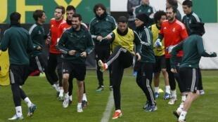 Treino do Real Madrid, em Istambul na Turquia