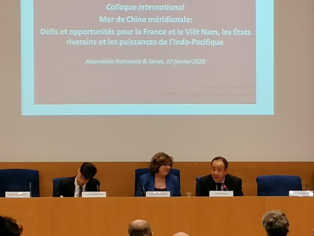 Hội thảo quốc tế về Biển Đông tại Hạ Viện Pháp ngày 27/02/2020