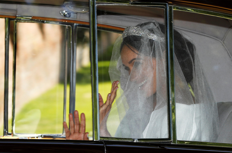"""Meghan Markle, a atriz afro-americana que vai """"modernizar"""" a imagem da monarquia britânica. 19/05/2018."""