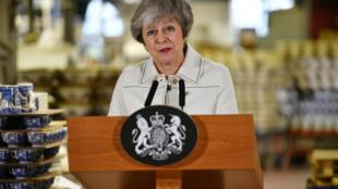 La Première ministre britannique Theresa May prononce un nouveau discours lundi 14 janvier 2019 devant le Parlement.