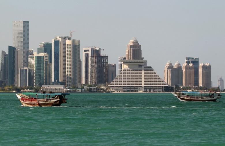 Wasu gine-gine dake gabar ruwa a Doha, babban birnin kasar Qatar.