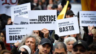 Des manifestants dans les rues de Marseille, samedi 2 février 2019.