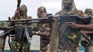 Члены нигерийской вооруженной группировки