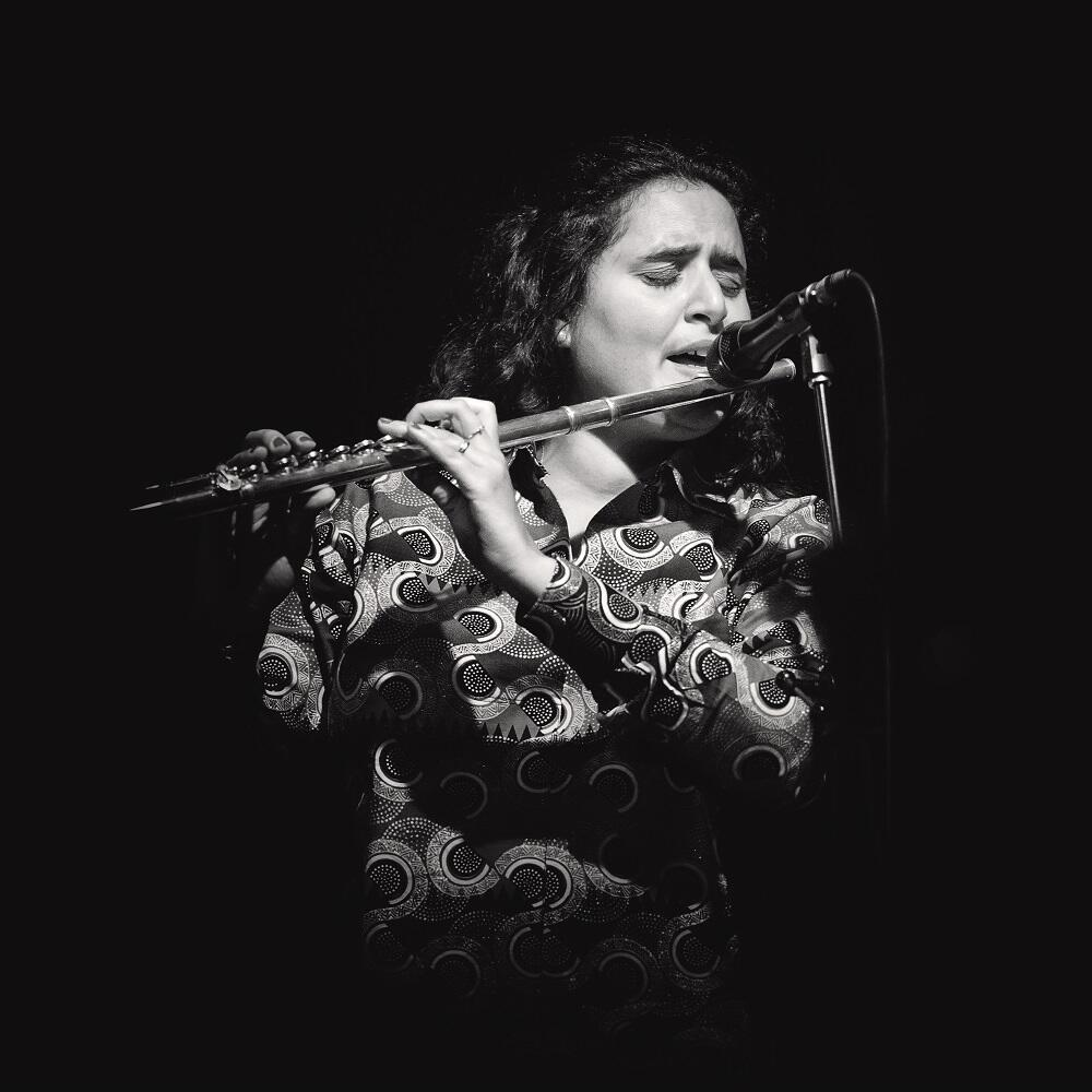 Naïssam Jalal plays classical flute but also ney, a wooden flute popular in the Middle East