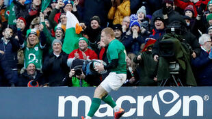 Keith Earls scored Ireland's third try at Murrayfield against Scotland.