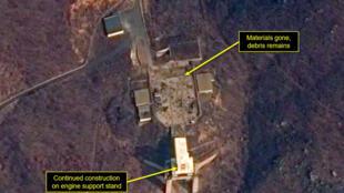 Căn cứ phóng vệ tinh Sohae của Bắc Triều Tiên. Ảnh vệ tinh do Hoa Kỳ công bố ngày 07/03/2019
