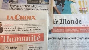 Primeiras páginas dos jornais franceses 3/08/2018