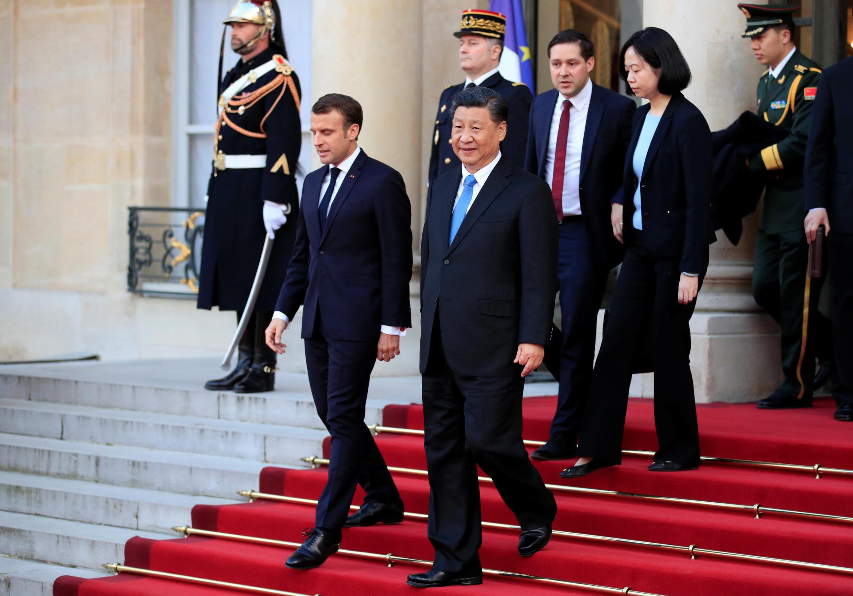 Эмманюэль Макрон и Си Цзиньпин в Елисейском дворце, 25 марта 2019 года