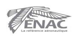 Logo de l'Ecole nationale de l'aviation civile, l'Enac.