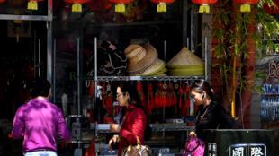 Một cảnh khu chợ Châu Á ở Los Angeles, California. Ảnh ngày 29/03/2017.