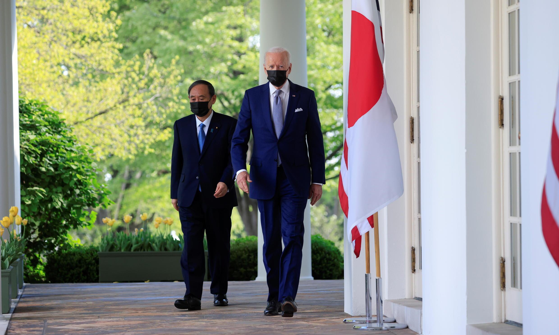 美日兩國領導人資料圖片