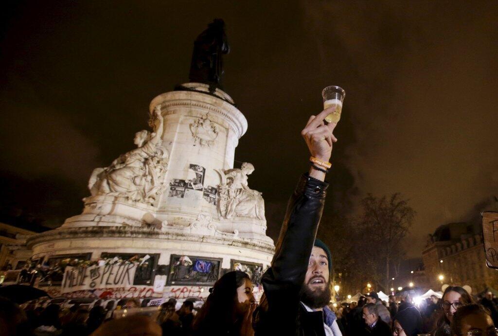 Площадь Республики в Париже, 20 ноября 2015.
