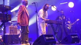 Américo Brito e Arp Frique durante o seu concerto nas Trans Musicais de Rennes, 08 de Dezembro de 2018