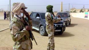 Des soldats de la Coordination des mouvements de l'Azawad (CMA) à Kidal, le 28 mars 2016 pour un Forum pour la réconciliation.