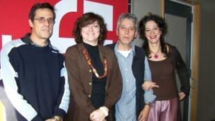 Philippe Hénarejos, Dominique Leglu, Jean-Yves Casgha et Yolaine de la Bigne