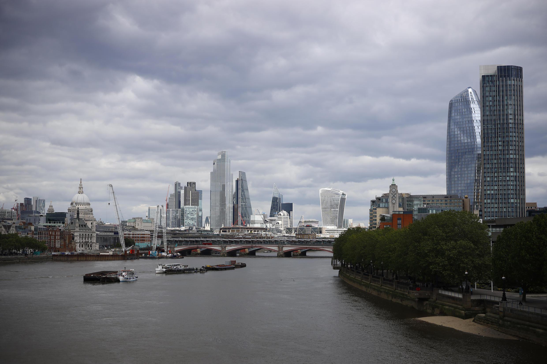 Panorámica de la City de Londres, el 13 de mayo de 2020
