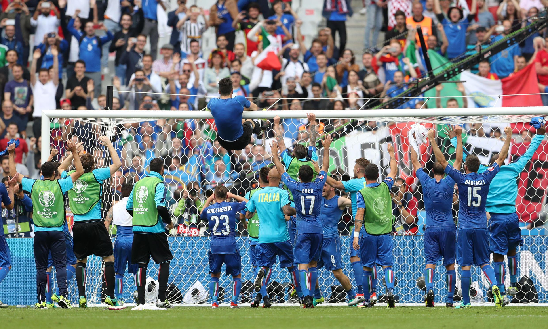 پس از پیروزی تیم ایتالیا بر اسپانیا در یک هشتم نهائی رقابت های جام ملت های اروپا