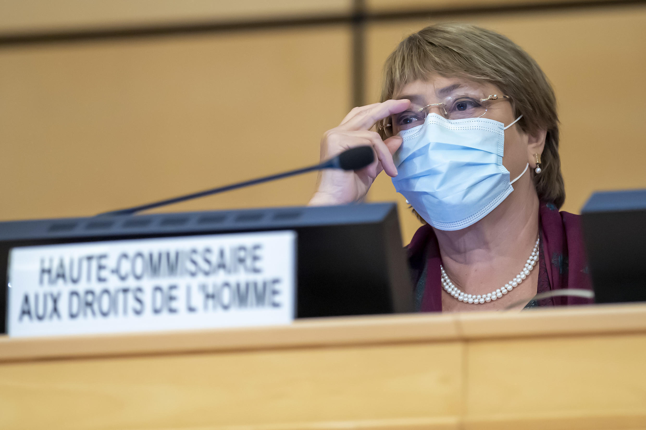 UN High Commissioner for Human Rights Michelle Bachelet, pictured in September 2020, has called on Iraqi authorities to halt any further executions