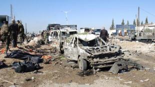 Quang cảnh vụ khủng bố tự sát tại Hama, Syria, ngày 20/10/2013