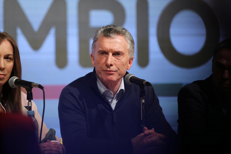 Mauricio Macri à Buenos Aires, le 11 août 2019.
