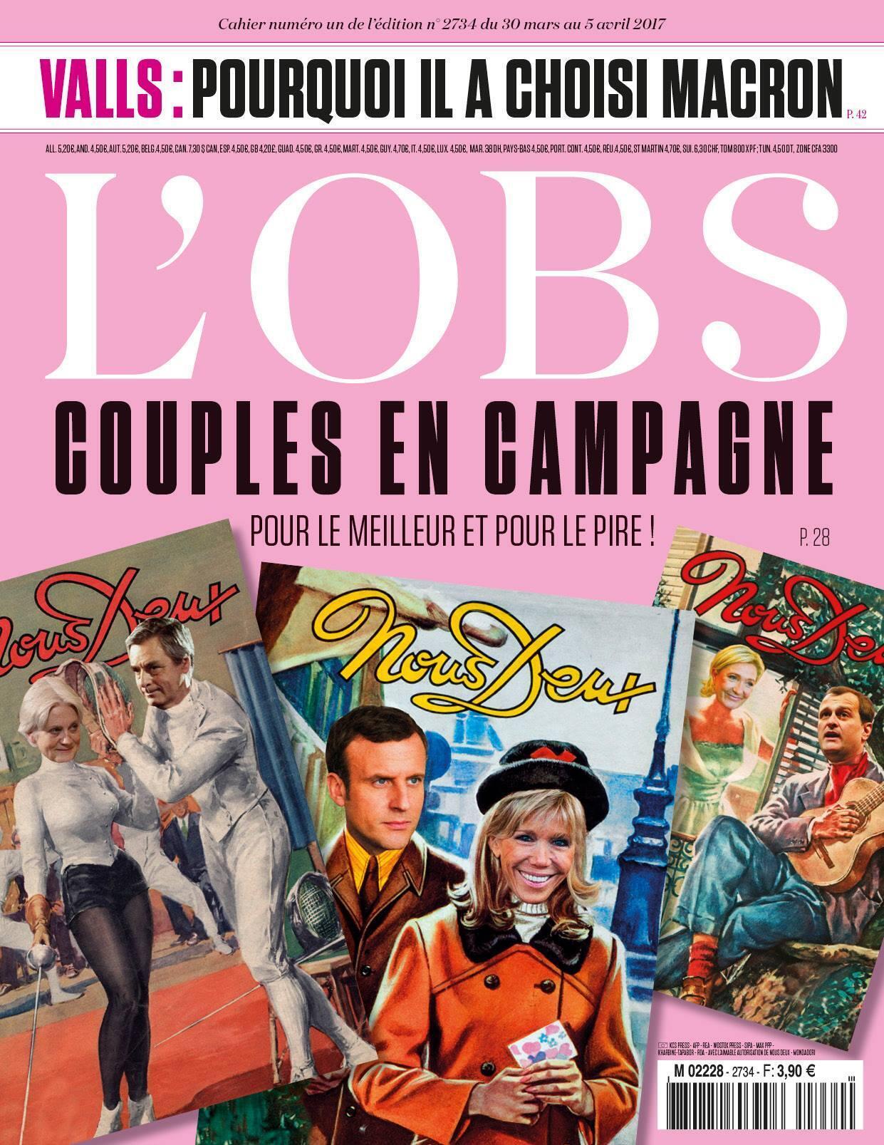 """Capa da edição desta semana da revista """"L'Obs"""""""