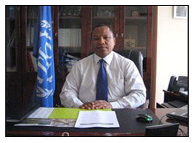 Christian Ntsay, ici dans ses fonctions de directeur du Bureau de Pays de l'OIT à Antananarivo (photo non datée).