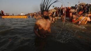 Participant at the Kumbh Mela