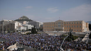 Митинг 4 февраля на площади Синтагма перед парламентом Греции