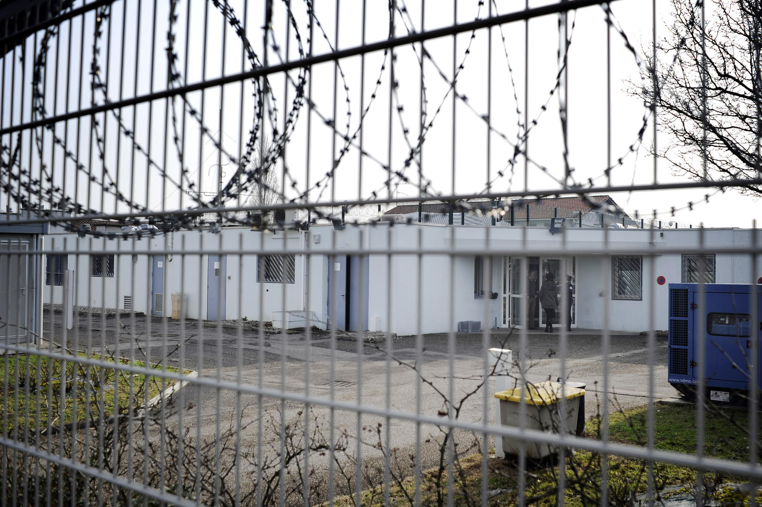 A detention centre near Lyon airport in 2015