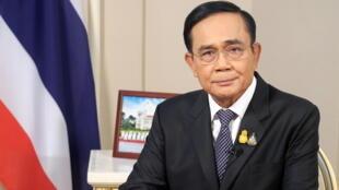 Prayut Chan-ocha, le Premier ministre thaïlandais lors d'une allocution télévisée, le 21 octobre 2020.