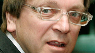 Guy Verhofstadt, chef du groupe libéral au Parlement européen et ancien Premier ministre belge.