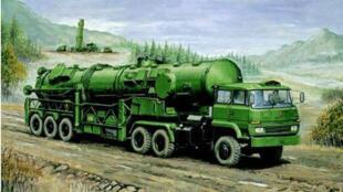 Một kiểu xe phóng hỏa tiễn Trung Quốc