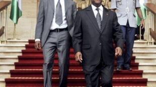 Abidjan, 14 mars 2012. Le président ivoirien Alassane Ouattara , avant le Conseil des ministres.
