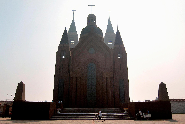 Nhà thờ ở làng Bạch Cổ Truân (Bai Gu Tun), tỉnh Thiên Tân, Trung Quốc (ảnh chụp ngày 17/12/2012)