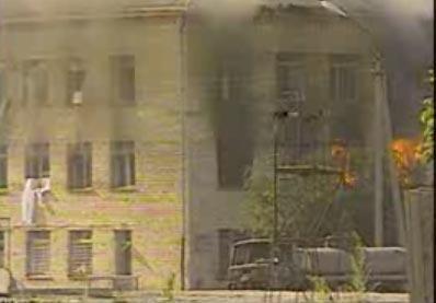 Больница в Буденновске во время захвата заложников в 1995 г.